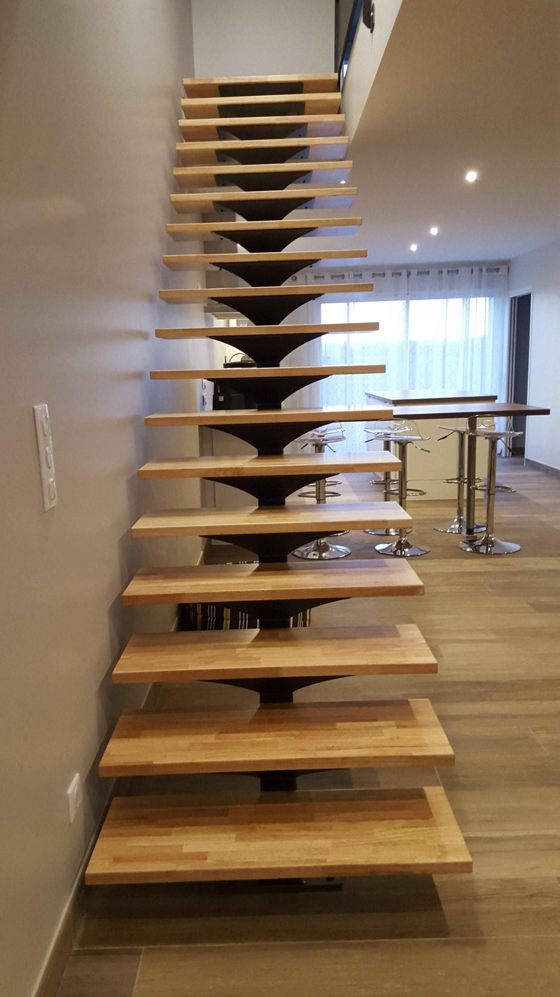 escalier droit ou hélicoïdale